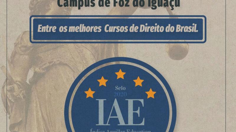 Unioeste: Direito de Foz está entre os 20 melhores do Brasil e o melhor colocado do Paraná