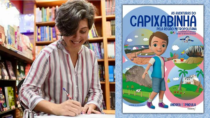 "Professora Andréa Espíndula lança ""As Aventuras do Capixabinha"""